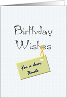 Birthday greeting for uncle, Warm wishes card