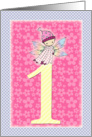 1 Year Old Birthday Card - Little Fairy Baby card