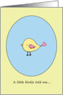 Congratulations on your Pregnancy - A Little Birdie Told Me... card