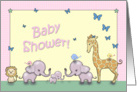 Baby Shower Invitation - Safari Animals card