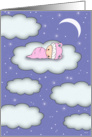 Congratulations - Baby Girl - New Baby card