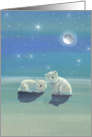 Christmas Card - Cute Polar Bears card