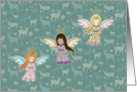 Three Little Angels Christmas Card