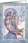 Christmas Card - Beautiful Angel in Watercolor card