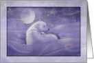 Christmas Card - Polar Bear and Cub card