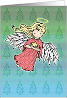 Sweet Little Christmas Angel Card