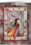 Autumn Equinox - Witch and Cat by Molly Harrison card