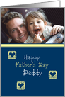 Father's Day for Daddy Custom Photo card