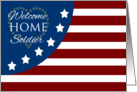 Military Welcome Home Soldier Stars & Stripes Flag card