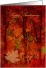 Thanksgiving From All of Us Autumn Foliage card
