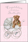Congratulations Grandparents on the Birth of Granddaughter Teddy Bear card