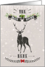 Merry Christmas The Buck Stops Here card