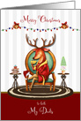 Christmas for Both Dads The Buck Stops Here Holiday Reindeer card