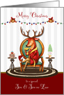 Christmas for Son and Son in Law The Buck Stops Here Reindeer card