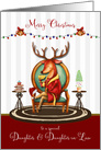 Christmas for Daughter and Daughter in Law The Buck Stops Here card