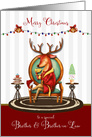Christmas for Brother and Brother in Law The Buck Stops Here card