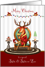 Christmas for Sister and Sister in Law The Buck Stops Here card