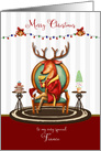 Christmas for Fiance The Buck Stops Here Holiday Reindeer card