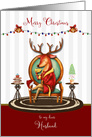 Christmas for Husband The Buck Stops Here Holiday Reindeer card