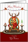Christmas for Life Partner The Buck Stops Here Holiday Reindeer card
