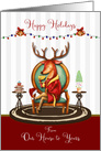 from Our House to Yours Happy Holidays The Buck Stops Here card