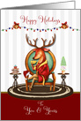 Happy Holidays The Buck Stops Here Christmas Reindeer card