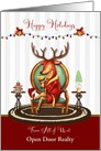 Business Custom Happy Holidays The Buck Stops Here card