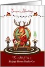 Business Custom Season's Greetings for Customers The Buck Stops Here card
