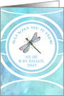 Watercolor Dragonfly Thinking of You card