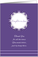 Mother's Day For Daughter in Law ~ Whimsical Lavender Medallion card