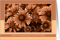 Happy Thanksgiving to Both Dads - Orange Blanket Flowers card