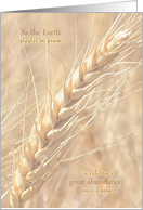 Lammas Day ~ First Harvest Festival, Golden Wheat card