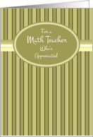 Math Teacher Thank You card