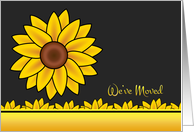 Sunflower Moving Announcement - We've Moved card