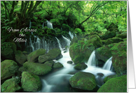 Happy Birthday From Across the Miles - Waterfall in the Woods card