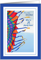 Off to College for Grandson - Colorful Kite in the Wind card