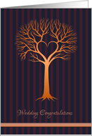 Gay Wedding Congratulations - Golden Love Tree card