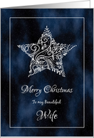 Christmas Star for Wife card