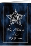 Merry Christmas for Life Partner - Christmas Star and Stardust card