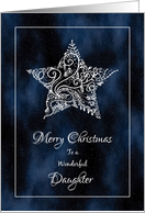 Merry Christmas for Daughter - Christmas Star and Stardust card