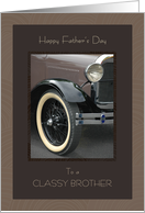 For Brother on Father's Day Classic Car card