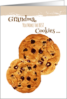 Grandparents Day for Grandma Chocolate Chip Cookies card
