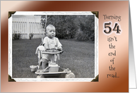 54th Birthday Humor ~ Vintage Baby in Stroller card