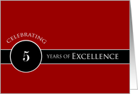 Business 5th Anniversary Circle of Excellence card