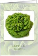 Vegetarian Lettuce Be Kind card