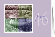 46th Wedding Anniversary Quad Color Flower Urn card