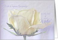 Sympathy Loss of Mother ~ Pencil Sketched Rose on Old Paper card