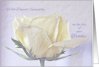 Sympathy Loss of Brother ~ Pencil Sketched Rose on Old Paper card