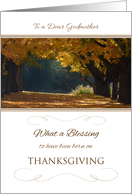 Thanksgiving Birthday for Godmother ~ What a Blessing Autumn Path card
