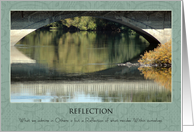 Reflection ~ Inspirational Waters card